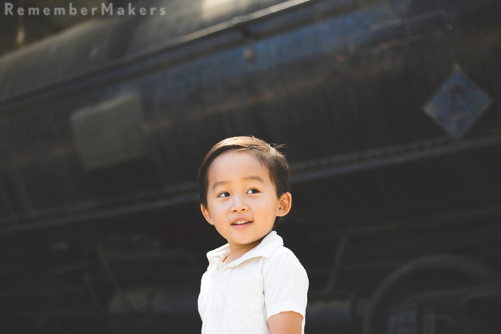 Travel Town and Three | Kids Birthday Party Photography Los Angeles