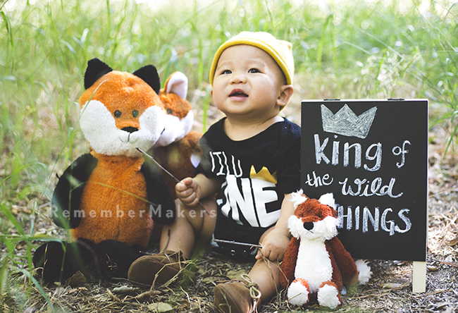 King of the Wild Things | A First Birthday Portrait Session Los Angeles