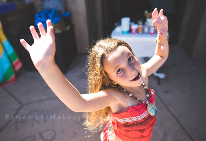 Moana + Ice Cream + Lexi | A Pool Party in Topanga | Los Angeles Kids Birthday Photography