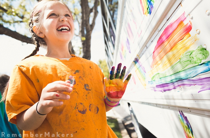 kids birthday party photography los angeles art bus